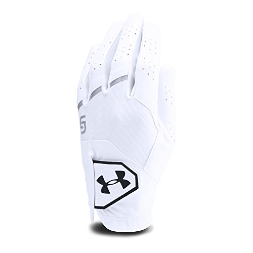 White Golf Glove - Under Armour Boys' Youth CoolSwitch Golf Glove,White (101)/Black, Youth Left Hand Medium