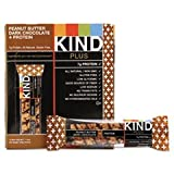 #3: KIND Bars, Peanut Butter Dark Chocolate, 8g Protein, Gluten Free, 1.4 Ounce Bars, 12 Count