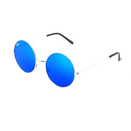 degradadas mujer Azul BRETON espejo Gafas TWIG sol hombre de Plata zq0Uf6UF