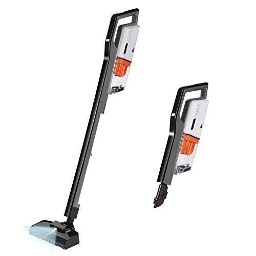 Cordless Vacuum Cleaner, 4 in 1 Stick Handheld Vacuum Lightweight 400W 7 Kpa Digital Motor,Upright Vacuum Cleaning for Pets Hair Hard Floor Carpet(Grey)