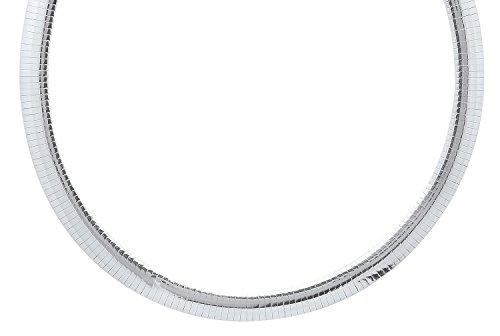 9mm 925 Sterling Silver Nickel-Free Omega Link Necklace, 20