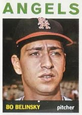 1964 Topps Regular (Baseball) Card# 315 Bo Belinsky of the Los Angeles Angels VG Condition by Topps