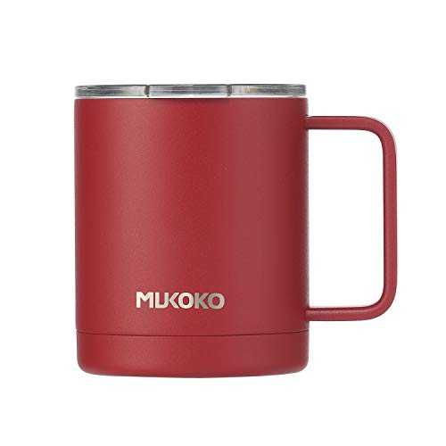 Insulated Coffee Mug 20 oz Stainless Steel Vacuum Insulated Mug With Lid and Handle Red