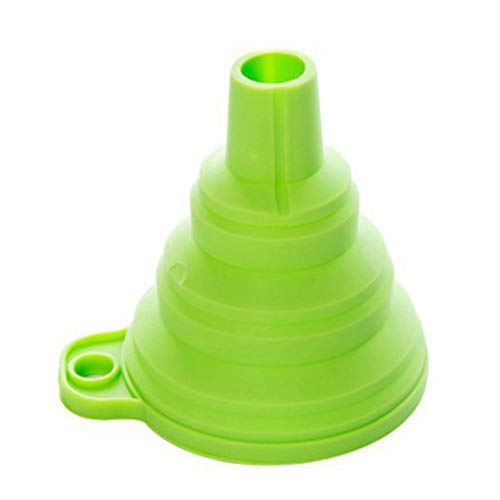 Hemore Folding Silicone Funnel Beautiful and Portable Funnel Mini Kitchen Silicone Collapsible Foldable Funnel ()