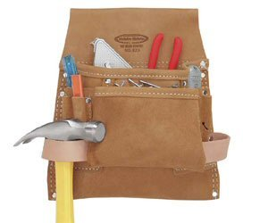 McGuire-Nicholas 823 8-Pocket Nail/Tool Bag by McGuire - Leather Nicholas