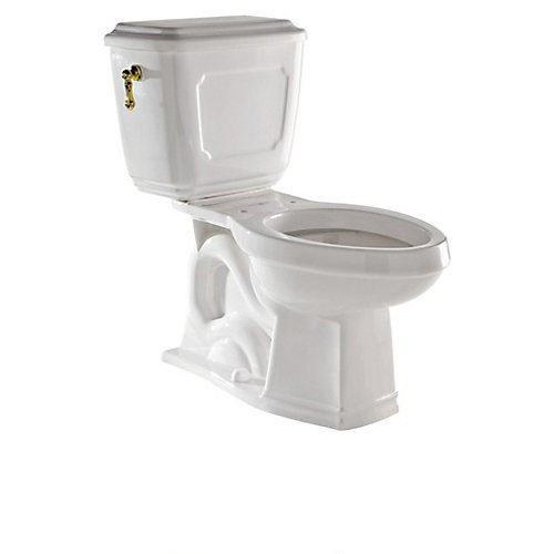 Rohl U.KIT133-IB R9492877Tcb Victorian 1.6GPF Elongated Toilet with 12'' Rough in and Flush Lever, Inca Brass by Rohl