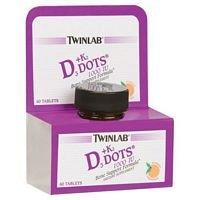 Twinlab Vit D3 1000 & K2 Dots, 3 pk