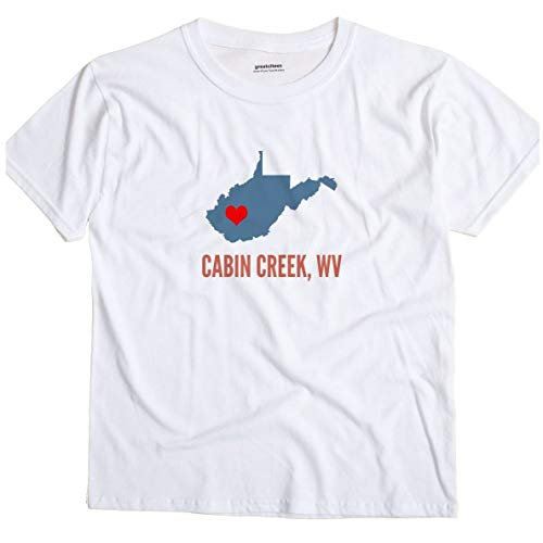 GreatCitees Cabin Creek West Virginia WV Heart Unisex for sale  Delivered anywhere in USA
