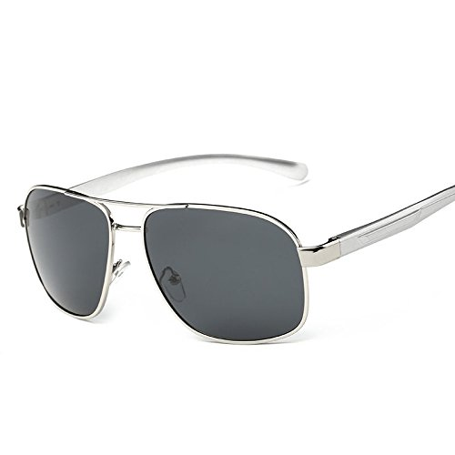 Silver Frame Gray Polarized Men'S Retro Aviator Metal Frame Sunglasses Outdoor Eyewear Eye - Muse Eyeglasses
