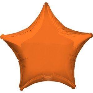 - Anagram Lot of 10 Orange Star Shape Foil Mylar 19