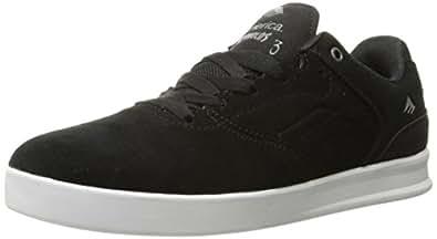 Emerica Men's The Reynolds Low Skateboarding Shoe, Black/Silver, 5 M US