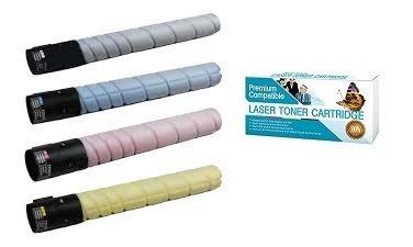 インクNowプレミアム互換コンボパック(すべての色) for konica-minolta Toners tn221 C、tn221 K、tn221 m、tn221y for Bizhub c227、c287、c367プリンタ B07B5PTFHG