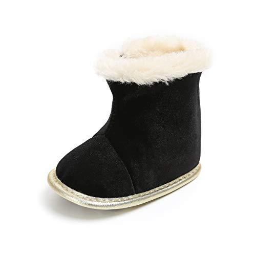 BENHERO Baby Boys Girls Premium Soft Sole Anti-Slip Warm Winter Infant Prewalker Toddler Snow Boots