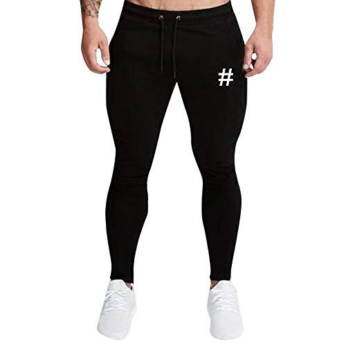 Panpany Nero Jogging Sportivi Casual In Da Con Coulisse Pantaloni Stampati Pants Uomo Stampato BqZArBx