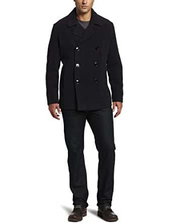 Kenneth Cole Men's Plush Peacoat, Charcoal, Medium