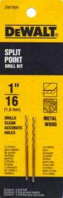 """Price comparison product image Dewalt DW1904 1 / 16"""" Pilot Point Drill Bit"""