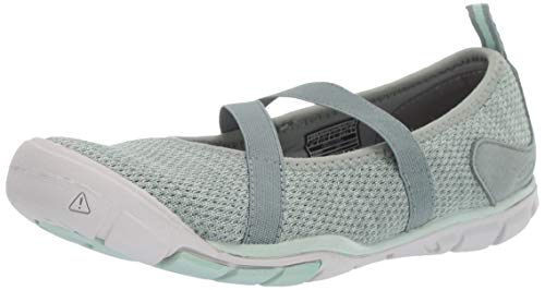 KEEN Women's Hush Knit MJ CNX Mary Jane Flat, Lily pad/Celadon, 10 M US - Green Mary Janes Flats Shoes