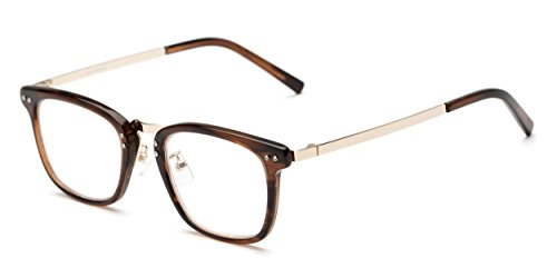 Readers.com   The Nottingham Signature Reader +2.00 Brown/Gold Square Stylish Men's & Women's Full Frame from Readers