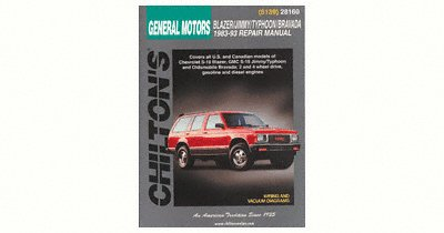 Chilton CHI28160 TCC GM Blazer/Jimmy/Typhoon/Bravada 83-93