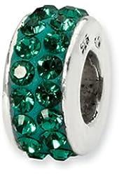 Reflections May Double Row Swarovski Crystal Bead / Charm