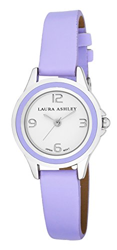 Laura Ashley Women's LA31009PU Analog Display Japanese Quartz Purple (Colored Bezel Watch)