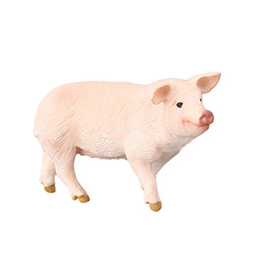 AMOFINY Baby Toys Educational Simulation Piggy Model Children's Pig Gifts Decoration ()