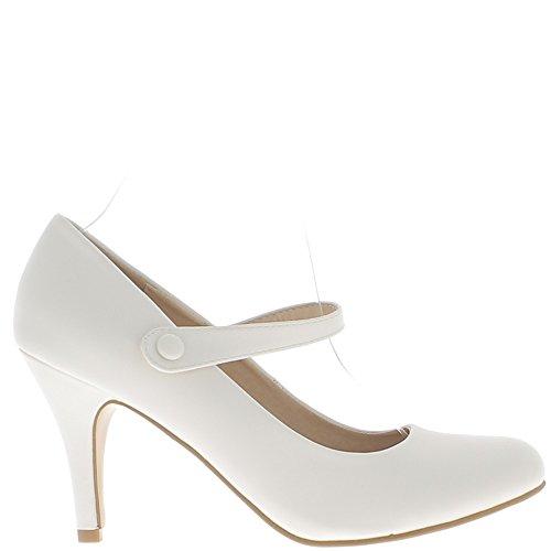 Scarpe donna tacco grande bianco opaco 10cm e sposa sottile