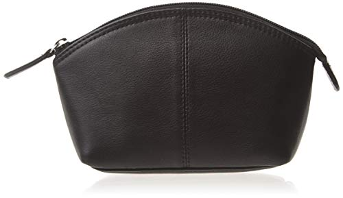 (ili New York 6480 Leather Cosmetic Makeup Case (Black))