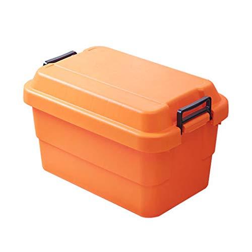 - Car Storage Box car Trunk Storage Box Multi-Function Storage Box (Color : Orange, Size : L60cm)