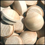 wood buttons plugs - 3