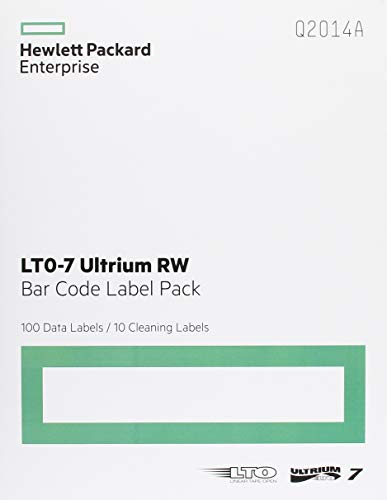 (HP LTO-7 Ultrium RW Bar Code Label Pack (Q2014A))