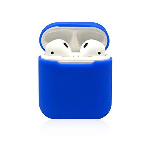 ブルーシリコンケースカバー 保護スキン Apple AirPods充電ケース対応   B07QH2GWY9