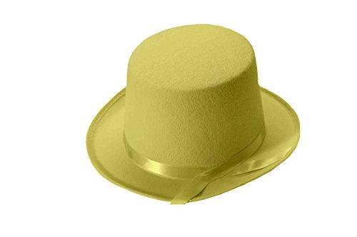 Forum Novelties Men's Deluxe Adult Novelty Top Hat, Yellow, One Size