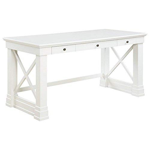 Coaster Home Furnishings Johansson 3-Drawer Writing Desk with X-Shaped Braces Antique White