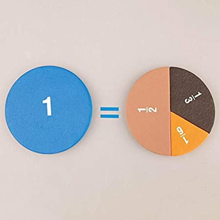 51Pcs//Set Magnetic Round Fractions Counting Wooden Kids Education Toy