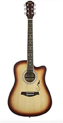 アコースティックギター 41インチのフォークギター夕焼け色初級学生機器ギター 初心者セット (色 : Natural, Size : 41 inches)