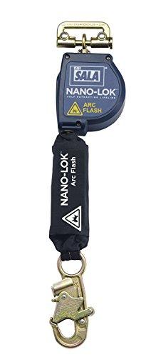 Blue//Black 3M DBI-SALA Nano-Lok 3101526 Arc Flash 8 Single Unit with Single Leg Connector and Steel Snap Hook