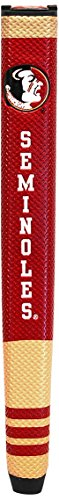 Team Golf NCAA Florida State Seminoles Golf Putter Grip with Removable Gel Top Ball Marker, Durable Wide Grip & Easy to Control