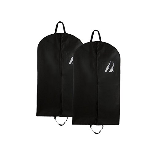 Bags for Less Set of 2 Non-Woven Fold-over Garment Bags 42""