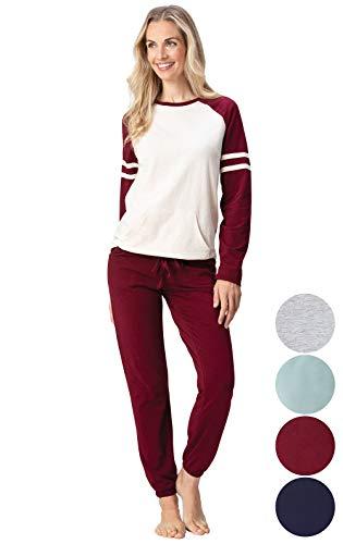 Addison Meadow Womens Pajamas Cotton - Jersey PJ Sets for Women, Sunday Funday