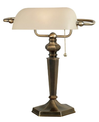 (Kenroy Home 20615GBRZ Mackinley Banker Lamp, Georgetown Bronze)