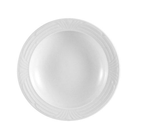 CAC China CRO-32 Corona 4-1/2-Inch 3.5-Ounce Super White Porcelain Fruit Bowl, Box of 36
