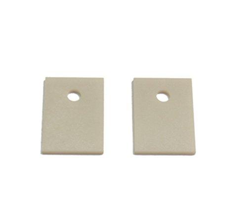 20 x 25 x 0,635 mm, 50 Stück TO-3P247 Aluminium-Keramik Isolierfolie MOS Transistor IGBT Kühlpads Oxid Dichtung Strahlung 4 mm Loch