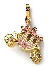 Juicy Couture Pave Bracelet - Juicy Couture Princess Pink Carriage Gold Charm