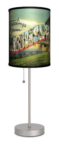 Travel - Mississippi Postcard Sport Silver Lamp (Postcard Mississippi)