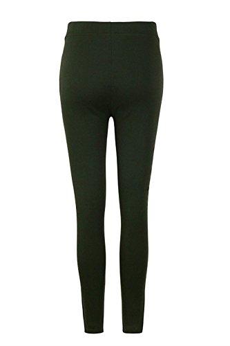 Armeegrün Retro Adelina Otoño Pantalones Trousers Señora Casuales Mujer Largos Legging Unicolor Elastisch Lápiz Bund Skinny Elásticos Fashion 44aAqwxS