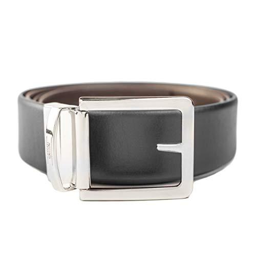 Giorgio Armani Collezioni Men's Leather Reversible Belt Black/Brown