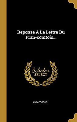 Reponse A La Lettre Du Fran Comtois Anonymous Amazonae