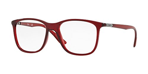 Ray-Ban Unisex 0RX7143 Transparent Red 1 One Size (Rayban Goggle)