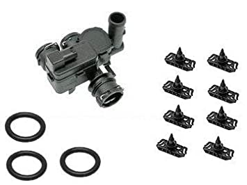 Mercedes W211 W219 Radiador Válvula de control Kit + Sellado Clips: Amazon.es: Coche y moto